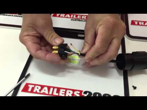 How to Wire a 7 Pin Large Round Trailer Plug