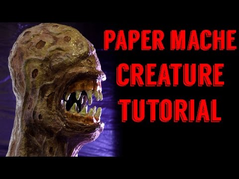 PAPER MACHE MONSTER TUTORIAL