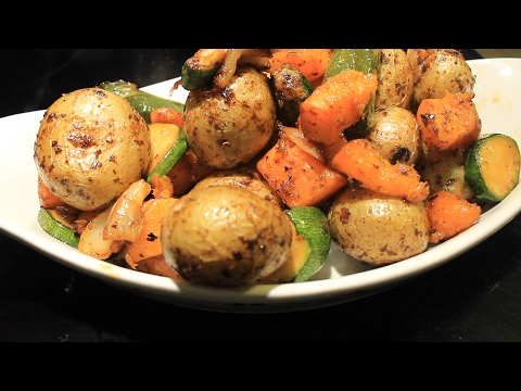 Potatoes n Zucchini w/ Butternut Squash ~ Air Fryer ~ Yum
