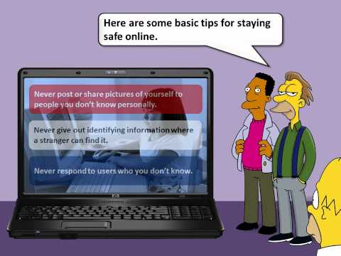 eSafety: How To Stay Safe Online (The Simpsons)