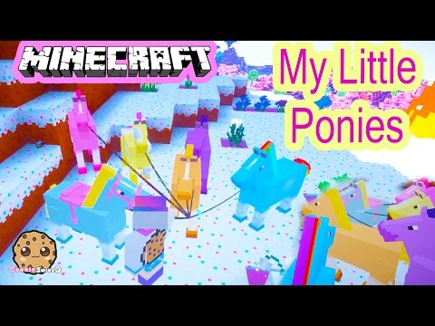 Cookieswirlc Minecraft Game Play Finding My Little Pony Horses Let's Play Gaming Video