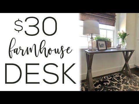 DIY 6 Board Farmhouse Desk