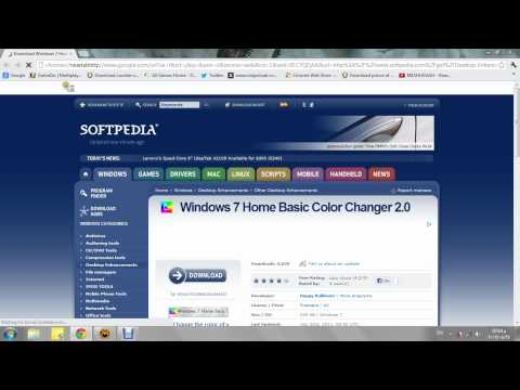 how to change the taskbar color for windows 7 home basic