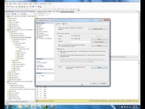 Database Mirroring in SQL Server 2008 R2 - Part 4