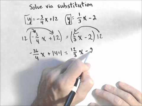 Solving a System Involving Fractions with Substitution
