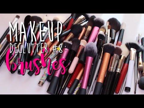 Makeup Declutter #8 | Makeup Brushes