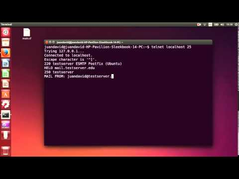 SMTP Interaction by Console in Ubuntu 14.04 Postfix Email Server