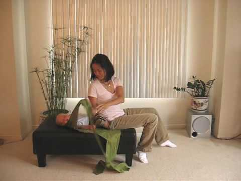 Lift Baby from Bed - Chinese Mei Tai Back Carry