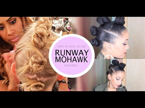 BUN HAWK | Natural Hairstyle - Runway Inspired