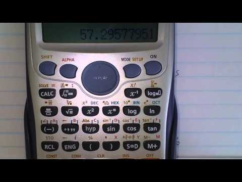 How To Use Casio fx 991ES Plus - Converting radians to degrees