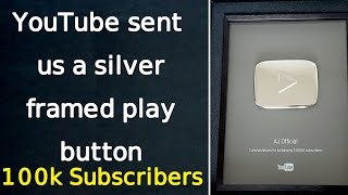 YouTube sent us a silver framed play button! | THANK YOU Subscribers & Maulana Tariq Jameel Sb