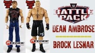 WWE FIGURE INSIDER: Dean Ambrose & Brock Lesnar - WWE Battle Pack Series 43.5 Figures By Mattel