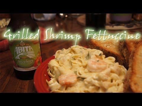 Homemade Grilled Shrimp Fettuccine Recipe
