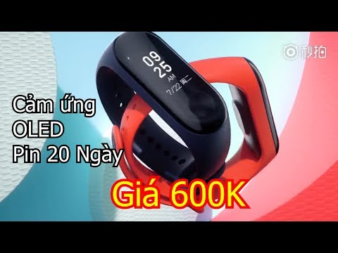 Xiaomi Mi Band 3 ra mắt: màn hình cảm ứng OLED, Pin 20 Ngày, giá 600K