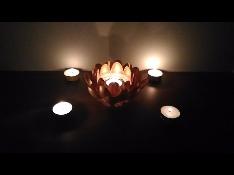 DIY Diwali Lotus Tea Light/Candle Holder | Neha Karavadi | Limelights