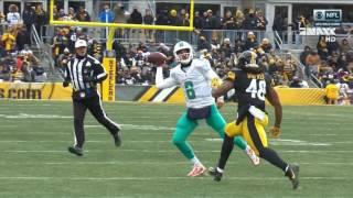 Brutal hit Dupree vs. Moore Steelers vs. Dolphins 2017 german commentary