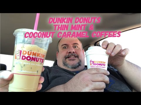 Dunkin Donuts Girl Scouts Thin Mint & Coconut Caramel Coffee