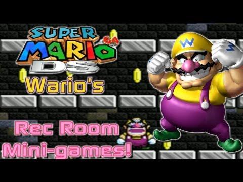 Super Mario 64 DS - Peach's Rec Room | Wario's Mini Game Pack! (Bonus #8)