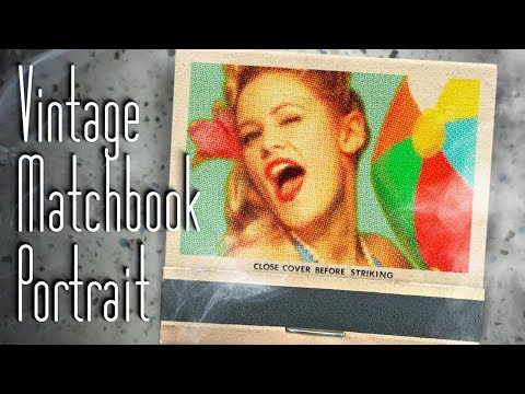 Photoshop: How to Create a Classic, Vintage, Matchbook Cover