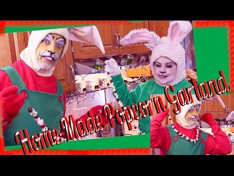 Drunk Bunnies Home-Made Popcorn & Cranberry Garland