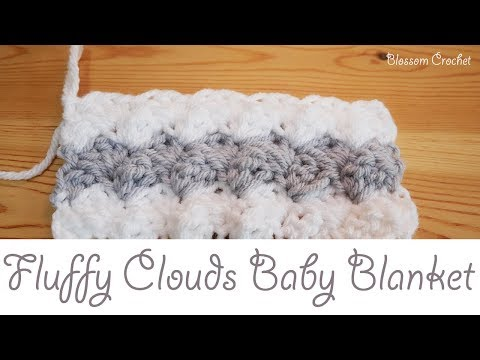 Easiest Crochet Baby Blanket - Fluffy Clouds