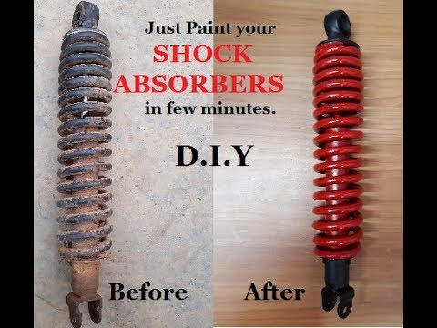 How to Paint SHOCK ABSORBERS in few Steps.