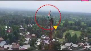 Pakistani flag hoisted in South Kashmir: Brave Jawan replaces it with the tricolour