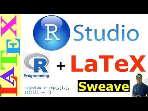 How to Integrate R Code to LaTeX using RStudio (LaTeX Advanced Tutorial-20)