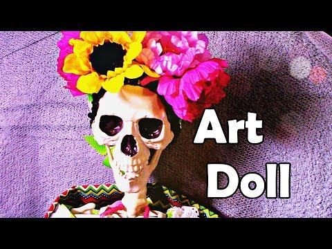 Day of the dead Art doll   Coco inspired   dia de los muertos   how to make doll clothes