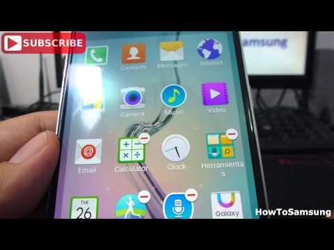 How do I uninstall or disable an application Samsung Galaxy S6 Basic Tutorials