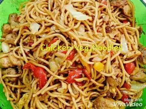 Chicken Veg.Noodles (street style) quick and Easy.