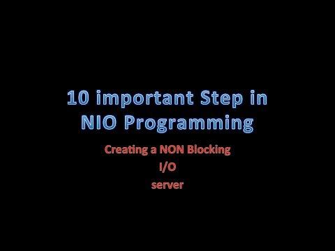 java nio client server programming tutorial 10 important steps