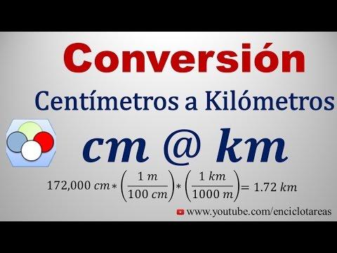 Convertir de Centímetros a Kilómetros (cm a km)