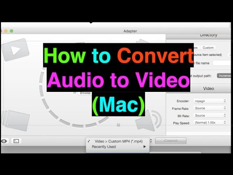 How to: Convert Audio to Video (Mac)