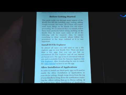 Kindle Fire HD Guide: Google Apps, Play Store, Rooting, and More!