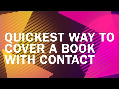 How to cover a book with contact paper - FAST!