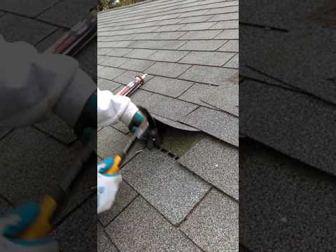 How to fix a broken roof shingle, roof damage.
