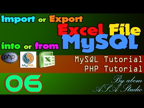 Import or Export Excel File into or from MySQL, 6, Create Excel File with Data, Excel PHP Tutorial