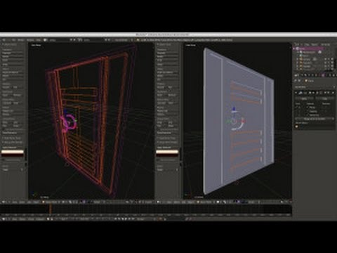 How to model a modern door in Blender Part 1