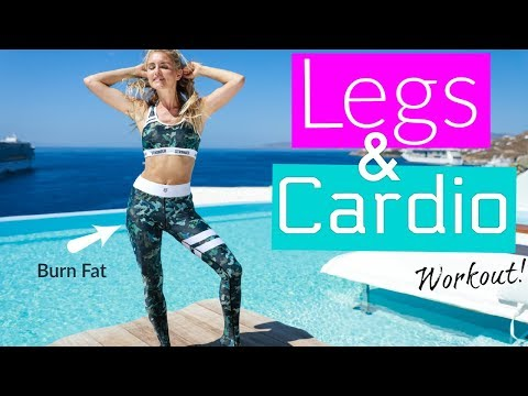 Legs and Cardio Workout - FAT BURN AT HOME   Rebecca Louise