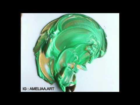 Paint mixing: Golden Green