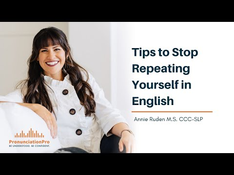 Tips To Stop Repeating Yourself In English