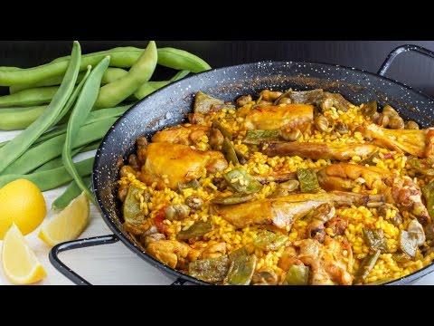 Easy Paella Valenciana - Spanish Food Recipe | HappyFoods