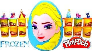 Huevo Sorpresa Gigante de Elsa Frozen en Español Plastilina Play-Doh - Juguetes de Frozen
