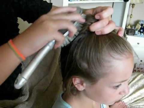high ponytail for short hair