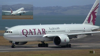 WORLD'S LONGEST FLIGHT ✪ Qatar Boeing 777-200LR ► Takeoff ✈ Auckland Airport