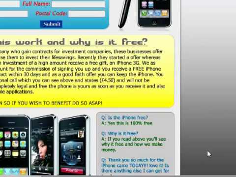 Get a Free IPhone 3GS Unlocked *No Referrals or Offers*!