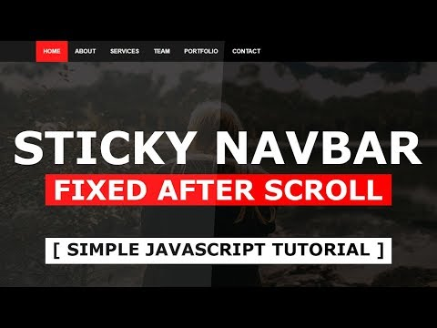 How To Create a Sticky Navbar - Sticky Header Using Html CSS and Javascript