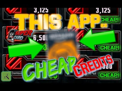 THIS APP GIVES ME CHEAP CREDITS! | WWE SuperCard