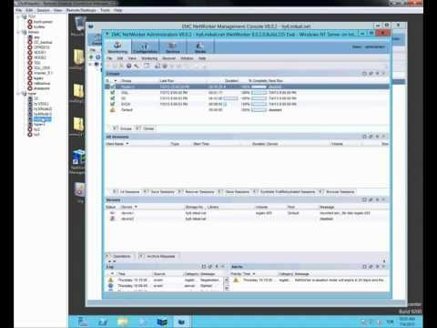 emc networker SQL server 2012 backup and recovery
